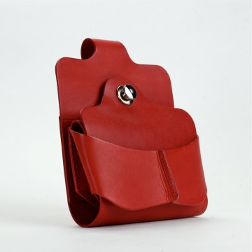COLORS x Vintage Revival Productions Gravity Belt Holster 国産オイルレザー / レッド