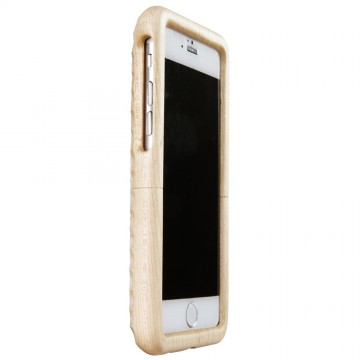 Real Wood Case for iPhone 6/6s  かえで(丸刀一刀彫)