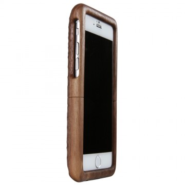 Real Wood Case for iPhone 6/6s  くるみ(丸刀一刀彫)