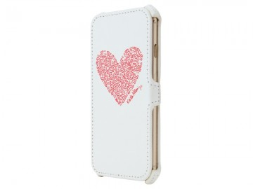 Keith Haring Collection Flip Cover for iPhone 6/6s Heart/White x Red