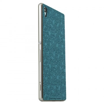 THE Ultrasuede Skin Surface Collection x Keith Haring Collection for Xperia Z4 People/Turquoise