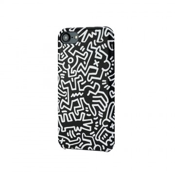 Keith Haring Collection PU Case for iPhone 7 Chaos/Black x White