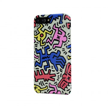 Keith Haring Collection PU Case for iPhone 7 Plus Chaos