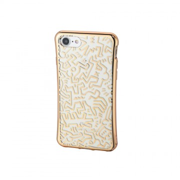 Keith Haring Collection TPU Case for iPhone 7 Chaos/Metallic Gold