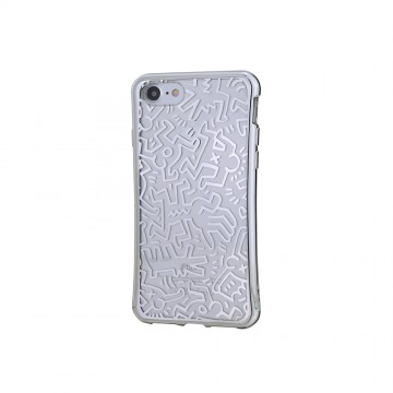 Keith Haring Collection TPU Case for iPhone 7 Chaos/Metallic Silver