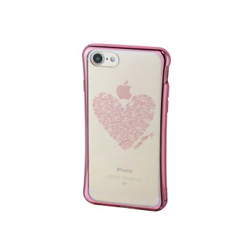 Keith Haring Collection TPU Case for iPhone 7 Heart/Metallic Rose Gold