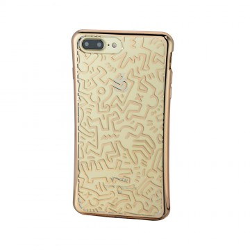 Keith Haring Collection TPU Case for iPhone 7 Plus Chaos/Metallic Gold