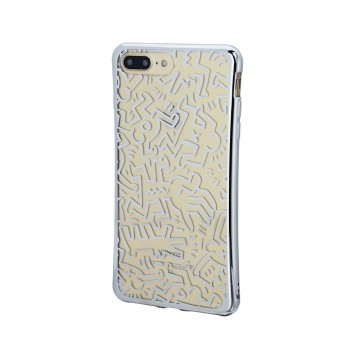 Keith Haring Collection TPU Case for iPhone 7 Plus Chaos/Metallic Silver