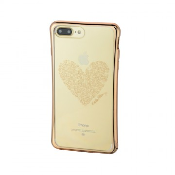 Keith Haring Collection TPU Case for iPhone 7 Plus Heart/Metallic Gold