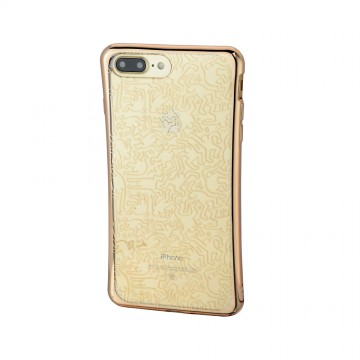 Keith Haring Collection TPU Case for iPhone 7 Plus People/Metallic Gold