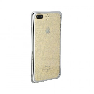 Keith Haring Collection TPU Case for iPhone 7 Plus People/Metallic Silver