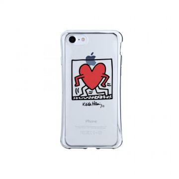 Keith Haring Collection TPU Case for iPhone 7 Running Heart