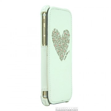 Keith Haring Collection Flip Cover for iPhone 6 Heart/White x Gold