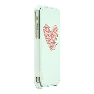 Keith Haring Collection Flip Cover for iPhone 6 Heart/White x Red