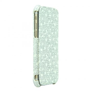 Keith Haring Collection Flip Cover for iPhone 6 People/White x Silver