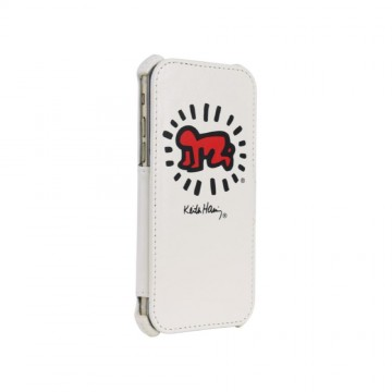 Keith Haring Collection Flip Cover for iPhone 6/6s Baby Symbol/White