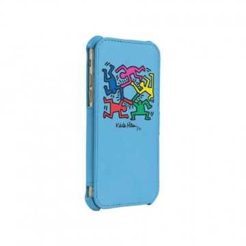 Keith Haring Collection Flip Cover for iPhone 6/6s Hexagon Figs/Blue