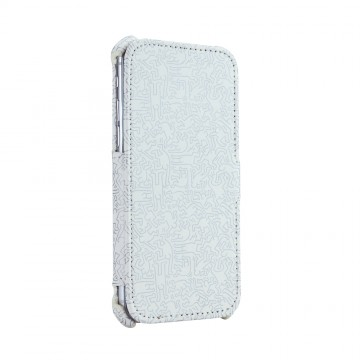 Keith Haring Collection Flip Cover for iPhone 7 People/White x Silver