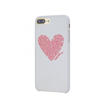 Keith Haring Collection PU Case for iPhone 7 Plus Heart/White x Red