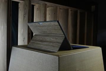 Microsoft公式ライセンス商品 : THE WOOD SKIN for Microsoft Surface Pro 4 Zebra Wood
