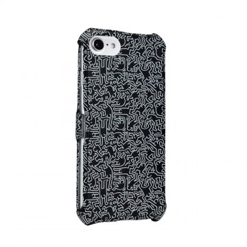 Keith Haring Collection Flip Cover for iPhone 7 People/Black x White