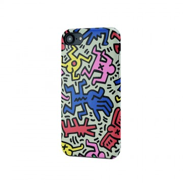 Keith Haring Collection PU Case for iPhone 7 Chaos