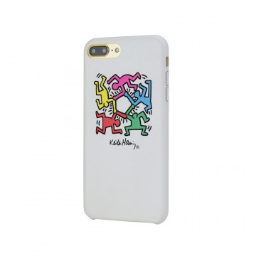 Keith Haring Collection PU Case for iPhone 7 Plus Hexagon Figs/White
