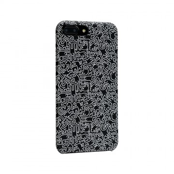 Keith Haring Collection PU Case for iPhone 7 Plus People/Black x White